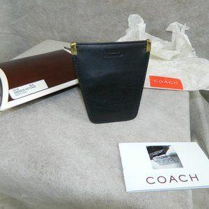 COACH Vintage 'Squeeze Key Case' Black #7216